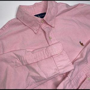 Ralph Lauren Custom Fit Pink Button Up Dress Shirt